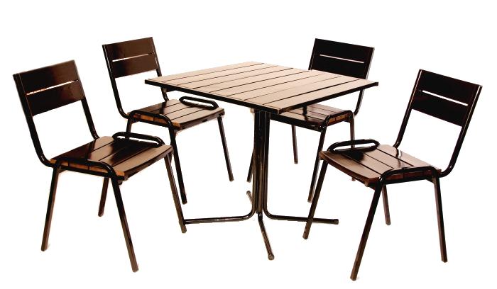 комплект складной мебели для кафе
